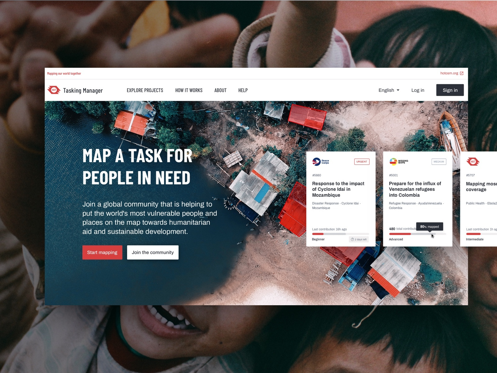 Mapping the world for people in need.